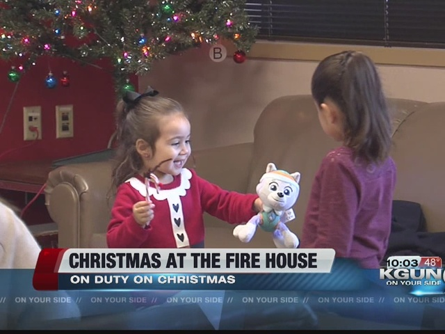 A Firehouse Christmas.Families Celebrate Christmas At The Firehouse