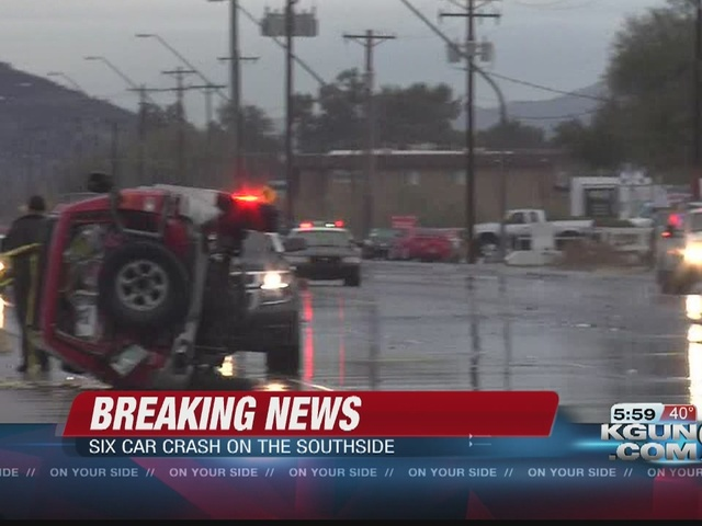 Old Nogales Highway reopens after six-car crash