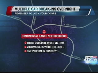Town of Marana victim to several car break-ins