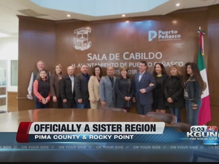 Pima Co. and Rocky Point part of 'sister region'