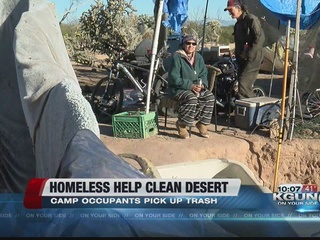 Homeless group helps clean up the desert