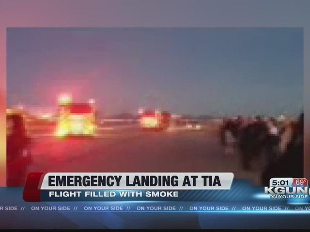 Smoke causes emergency landing at Tucson airport