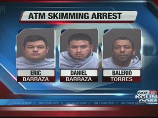 Men arrested for skimming credit cards