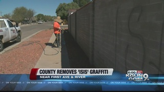 County removes hateful 'ISIS' graffiti