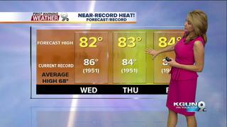 FORECAST: Near-record heat continues