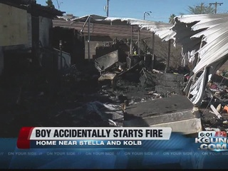 Boy playing with matches causes house fire