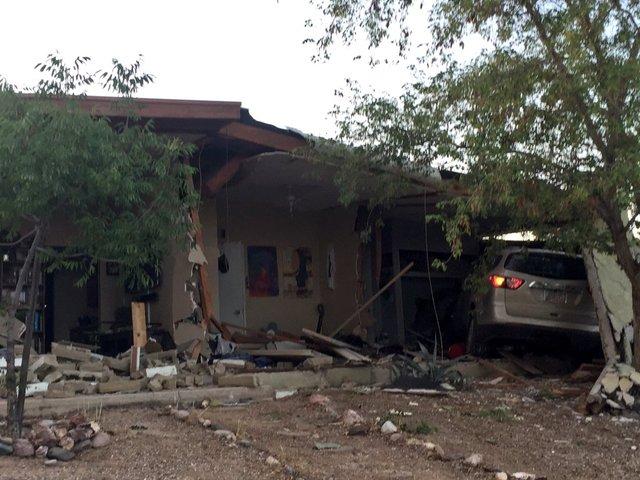 Car into house on northwest side