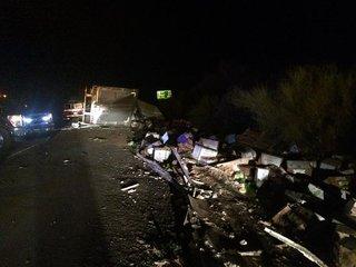Semi-truck accident closes stretch of I-10
