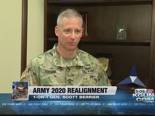 Maj. Gen. Scott Berrier talks Army realignment