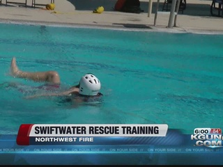 First responders brushing up on swiftwater rescu