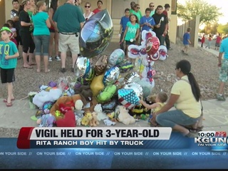 Vigil held for 3-year-old boy in Rita Ranch