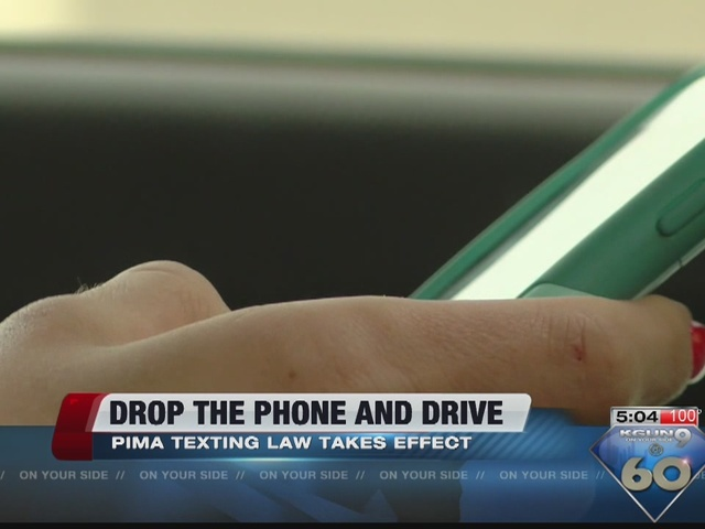 Drop that phone texting and driving law now in effect kgun9 com