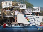 Animal advocates protest against trophy hunting