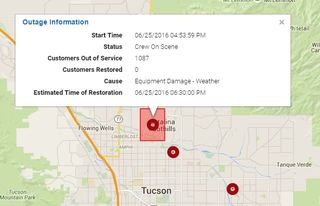 Over 1,000 without power in the Foothills