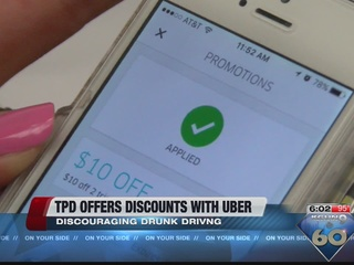 Discounted 4th of July Uber rides with TPD