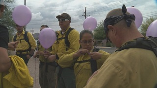 Memorial hike in honor of fallen hotshot crew