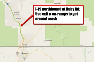 NB I-19 north of Nogales reopens after wreck