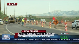 Roadwork connecting Silverbell to I-10 underway
