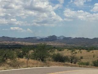 Black Peak Fire burning near Arivaca