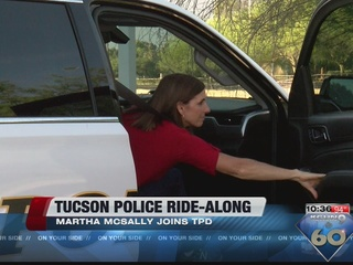 Congresswoman McSally rides along with TPD