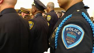Marana Police attend funeral of fallen officer