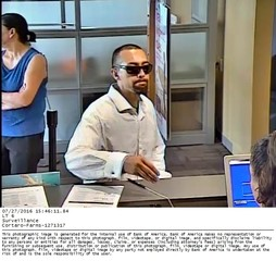 Surveillance photos of bank robber released