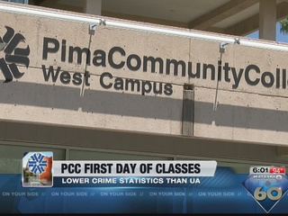 Pima Community College first day of class