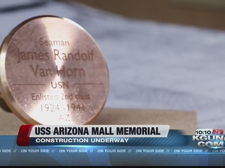 USS Arizona Mall Memorial construction underway