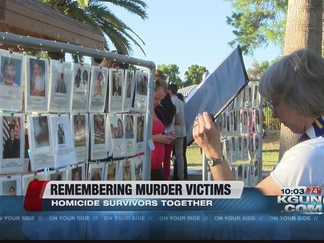 Homicide survivors remember loved ones together
