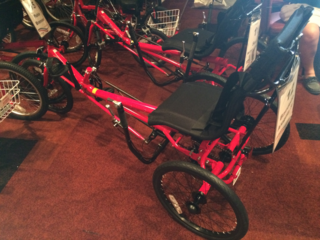 Tricycles given to children and veterans