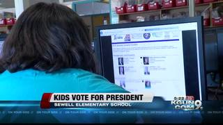 Elementary students getting the chance to vote