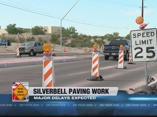 Silverbell Road paving to cause traffic delays