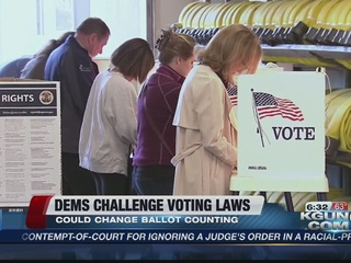 Democrats challenging these 3 voting laws
