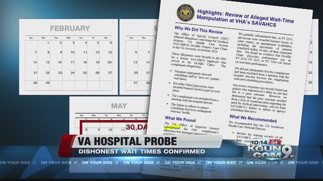 Tucson va wait time deception confirmed by oig kgun9 com