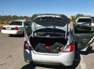CBP finds two immigrants stuffed in trunk
