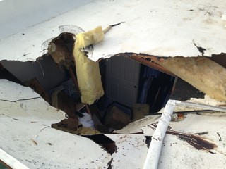 Owners recall moments when car landed on roof