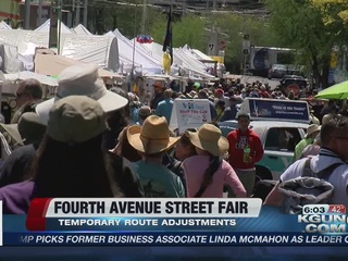 4th Ave Street Fair road closures, route changes