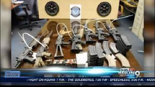Weapons found in speaker box at border