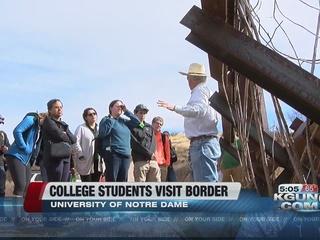 College students take trip to U.S.-Mexico border
