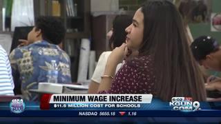 Minimum wage increase takes it's toll on schools