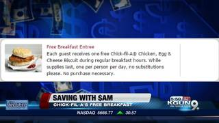 SAVING WITH $AM: Free Chick-fil-A sandwiches