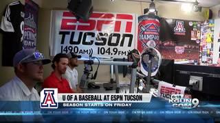 U of A baseball players visit ESPN radio Tucson