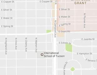 Pedestrian injured near Campbell and Grant