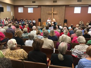 Hundreds show up for McSally town hall