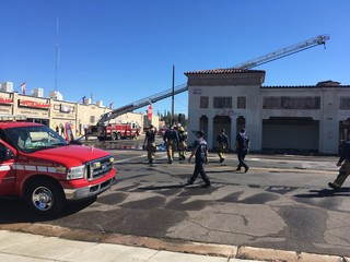Crews extinguish fire at Corbett building