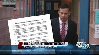 Why did TUSD Superintendent H.T. Sanchez resign?