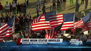 Statue, memorial for Chris Moon unveiled