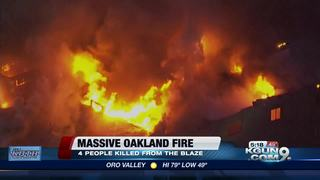 Four die in Oakland building fire