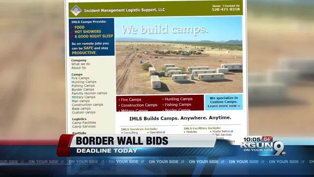 Contractors submit bids for border wall construction                      KGUN9