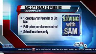 SAVING WITH $AM: Tax Day Freebies